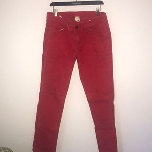 J Crew Women's Red Corduroy Pants